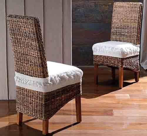Sale of banana leaf chairs by export sourcing agent in Indonesia Bali.