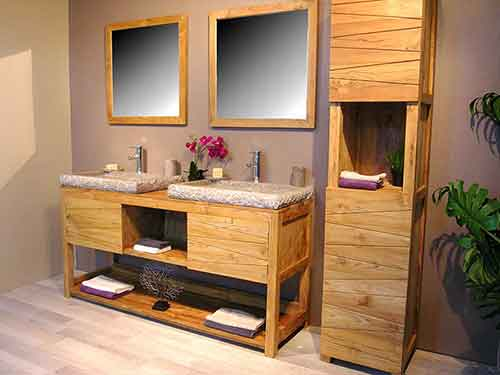 Sourcing and production bathroom furniture by export agent in Bali Java