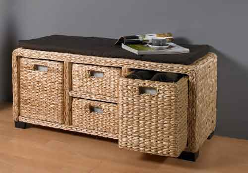 Water hyacinth low cabinet on sale by export agent of Indonesia in Bali sourcing.
